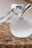 Collana corta di placcatura di modo della pietra dell'occhio di Apple Silver Cat