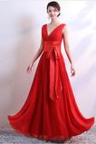 Vestito da damigella d'onore Chiffon Banchetto Bowknot A-line