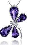 Collana di cristallo viola di cristallo viola di cristallo della libellula delle donne libere