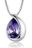 Collana di cristallo delle donne di modo di Heart-shaped d'argento all'ingrosso