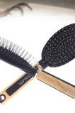 Massaggio manico in legno plastica nero anti-statica salute piccolo specchio & pettine