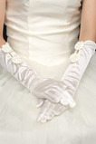 Guanti da sposa Taffetà all'aperto Cravatta Eternal Bow