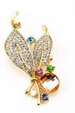 Brooch del cristallo del nuovo di stile del diamante intarsiato delle donne all'ingrosso