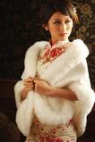 Elegante inverno bianco spessore fiore spilla di cristallo rettangolo Matrimonio scialle