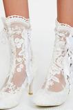 Stivali da donna alla moda stivali da donna con tacco alto in pizzo bianco stivali da donna
