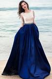 Vestito da ballo Elegante Gioiello Maniche lunghe 3/4 Pizzo A-line