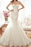 Vestito da sposa Senza spalline Sala Perline Senza maniche Autunno