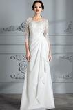Vestito da sposa Maniche lunghe 3/4 Perline Elegante Maglietta
