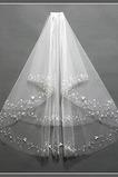 Chic con pettine dimensioni crimpare può essere personalizzato bianco velo da sposa