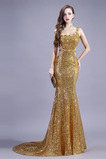 Vestito da sera Sirena Paillettes Senza maniche Vita naturale