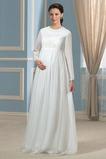 Vestito da sposa Maniche lunghe Spazzare treno Impero Gioiello