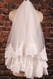 Velo corto in pizzo doppio strato con pettine per capelli accessori da sposa velo da sposa da sposa