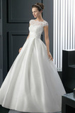 Vestito da sposa Inverno Pizzo Bateau Vita naturale Formale Perline