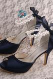 Scarpe da sposa stiletto da sposa sandali aperti da sposa scarpe da damigella d'onore di grandi dimensioni