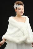 Matrimonio scialle elegante inverno pelliccia senza maniche all'aperto