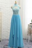 Vestito da ballo Senza schienale Elegante A Linea Chiffon Vita naturale