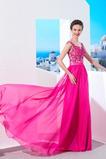 Vestito da sera Lungo Elegante A-line Perline Vita naturale Bateau