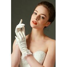 Guanti di nozze La molla piena di moda dell'avorio del merletto di barretta pieno