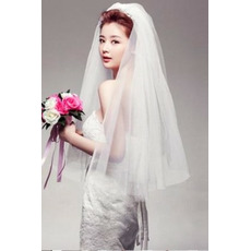 Wedding velo Tiered glamour primavera