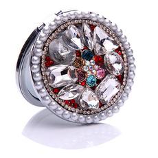 Lussuoso cerchio intarsiato diamante pieghevole piccolo specchio del fumetto