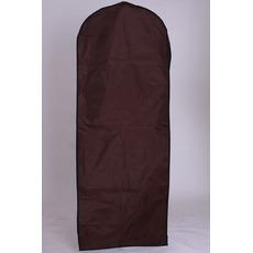 Panno di copertura della polvere del vestito da cerimonia marrone che appende vestito da cerimonia