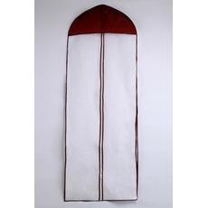 Sacchetto di polvere del vestito da cerimonia nuziale della viola di 155 centimetri lungo
