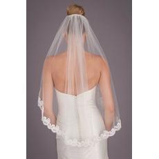 Velo di pizzo a strato singolo Accessori da sposa velo da sposa corto da 1,5 metri