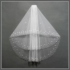 Chic con perline cremisi bianco autunno velo di nozze