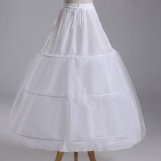 Petticoat di cerimonia nuziale Tre cerchioni Strong Net Stretta del vestito pieno regolabile