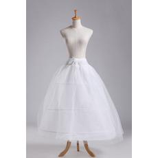 Petticoat di nozze Tre cerchi Vestito pieno Netto completo Due fasci