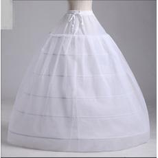 Petticoat di nozze Due fasci Vestito da cerimonia nuziale netto lungo lungo Sei bordi