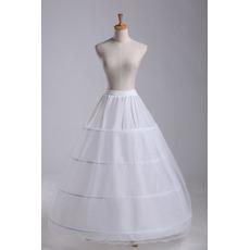 Petticoat di nozze Espandi Due fasci Elegante lungo Quattro cerchioni regolabili