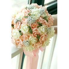 30 fiore mazzo di sposa azienda champagne rosa simulazione fiore matrimonio damigella d'onore