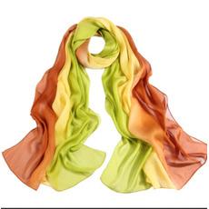 Spruzzare la striscia di colore del fiore allunga la sciarpa di livello