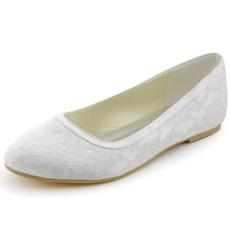 Scarpe da sposa in pizzo scarpe da sposa piatte per donne incinte comode tacchi bassi