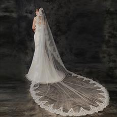 Velo da sposa lungo 3 metri velo applique in pizzo velo bianco avorio