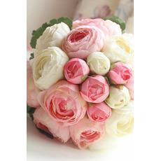 Diamante perla semplice bolla atmosferica a mano di fiori un matrone di onore