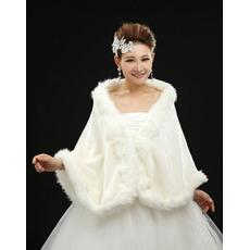 Senza maniche glamour scialle da sposa senza maniche
