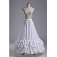 Vestito da cerimonia nuziale del petticoat nuziale del merletto che borda il taffettà lungo del poliestere