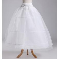 Vestito pieno dell'elemento di cerimonia nuziale Elegante tre cerchioni del taffettà del poliestere