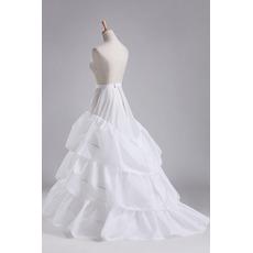 Petticoat di cerimonia nuziale Tre cerchioni Abito pieno del vestito Di taffettà elegante del poliestere