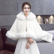 Mantello scialle da sposa mantello caldo imbottito in pelliccia sintetica