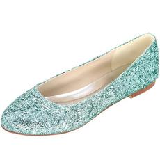 Scarpe da donna con paillettes piatte scarpe da sposa argento scarpe da damigella d'onore scarpe da donna incinta