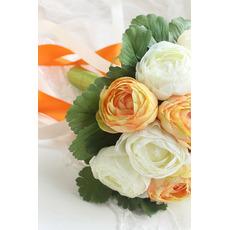 Bianco la sposa coreana del peony mano huashan camelia simulazione rosso bouquet di nozze