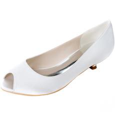 Scarpe da sposa bocca di pesce scarpe tacco basso scarpe da donna incinta scarpe da sposa