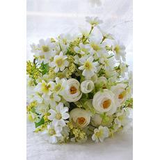 Il bouquet di fiori di tè verde e bianco Le spose coreane hanno sposato la simulazione