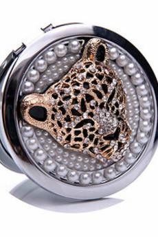 Cerchio Inlaid di diamante compleanno Wedding Metal Folding pettine