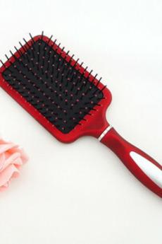 Accogliente cura di salute rosso plastica portatile massaggio piccolo specchio & pettine
