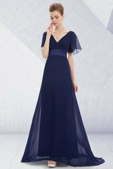Vestito da sera Vita naturale Increspato Elegante Primavera Palla