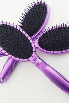 massaggio di plastica viola cura di salute ovale piccolo specchio & pettine